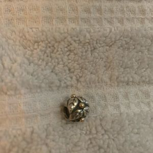 Pandora charm - leaves with gold
